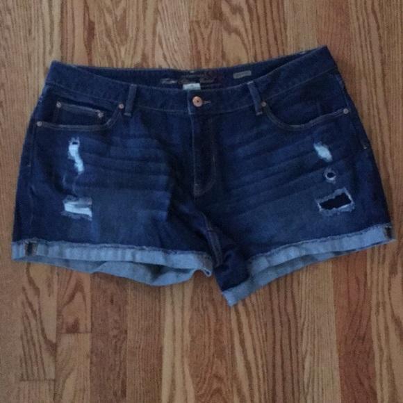 986f04543d Faded Glory Shorts | Blue Jean Distressed Plus Size | Poshmark